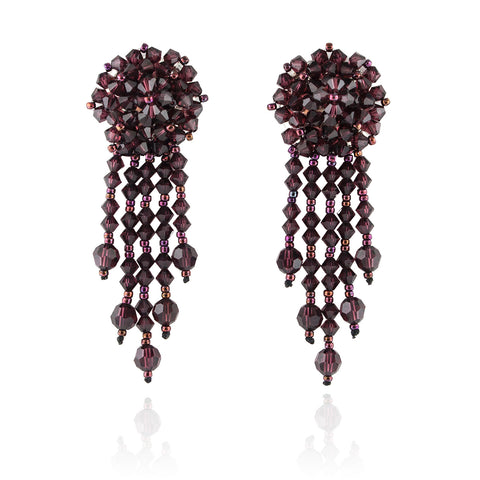 Statement Earrings with Woven Cluster