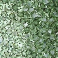 Chrysolite Satin Crystal Beads
