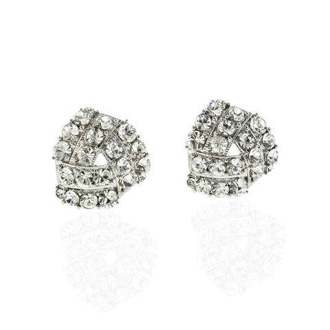 3-Sided Crystal Clip-On Earrings