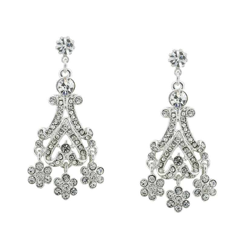 Clip on Victorian Style Chandelier Earrings