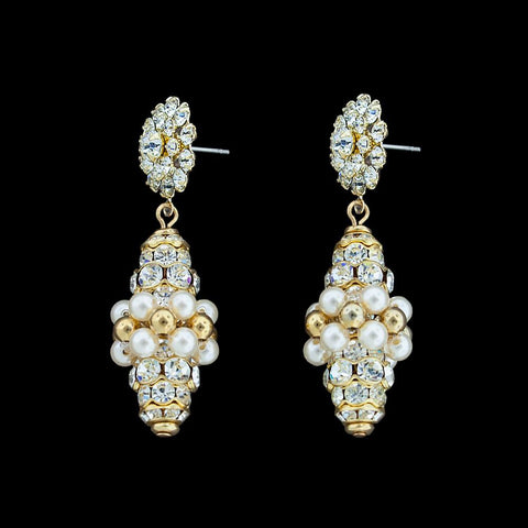 Crystal Encrusted Drop Earrings