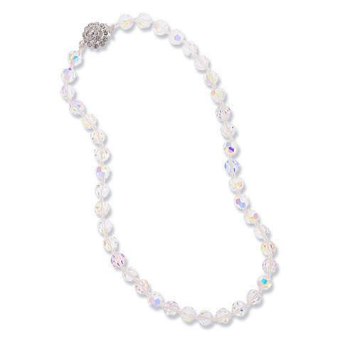iridescent crystal beaded necklace