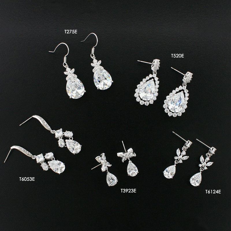 various CZ earrings