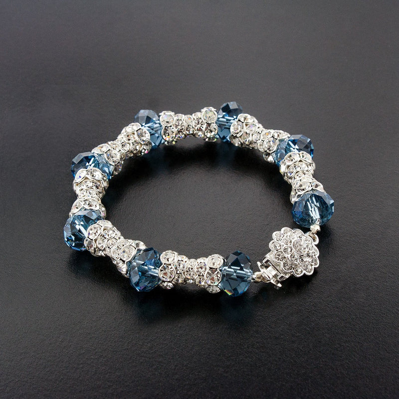 Pave Crystal Bracelet with Swarovski Beads
