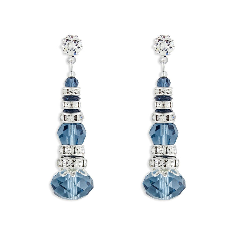 Crystal & Rondelle Beaded Drops - blue