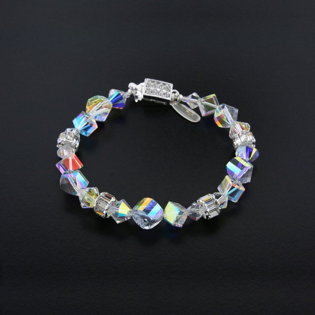 multi shape AB crystal bracelet