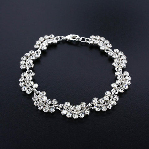 Scalloped Crystal Bracelet
