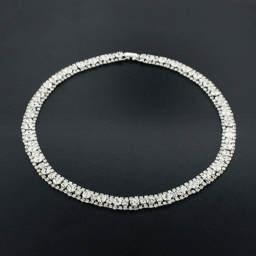 3 Row Crystal Necklace