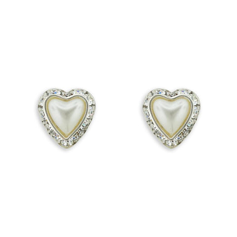 Heart-Shape Pearl Earrings
