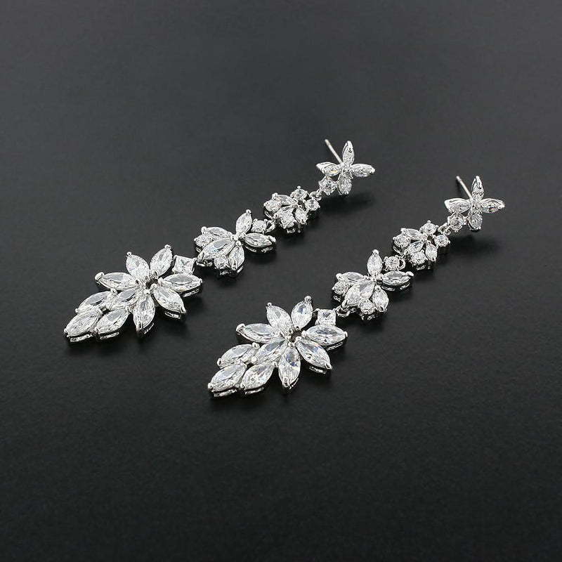 Customizable Modern CZ Earrings