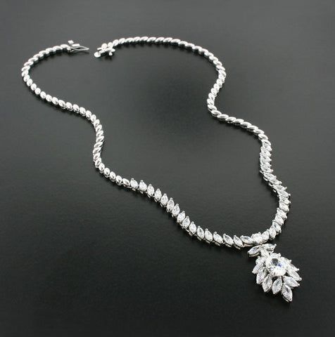 CZ Necklace with Pendant