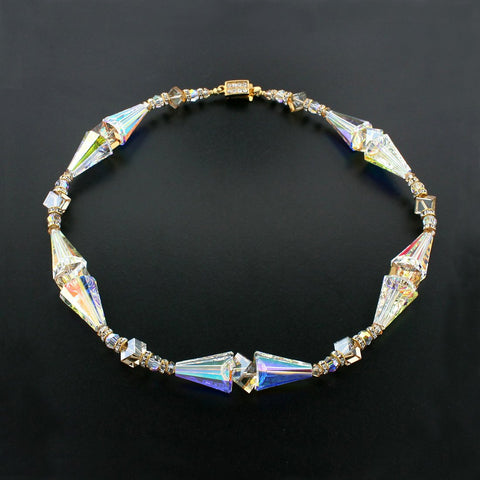 Modern Multi-Shape Crystal Necklace
