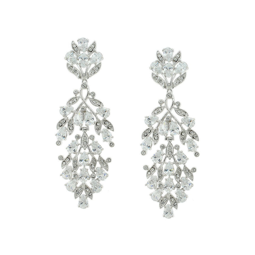 Dramatic Tapered CZ Earrings
