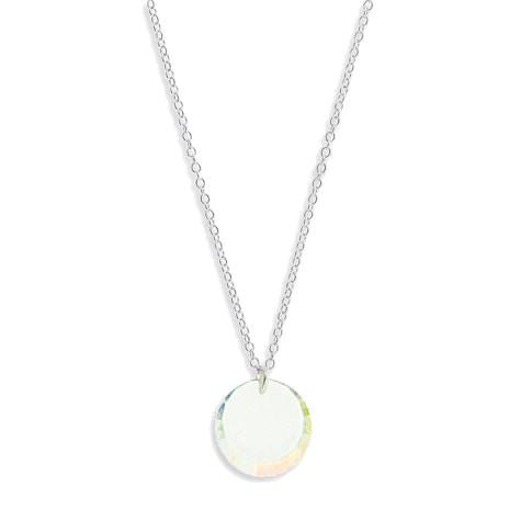 Iridescent Disc Pendant on Chain