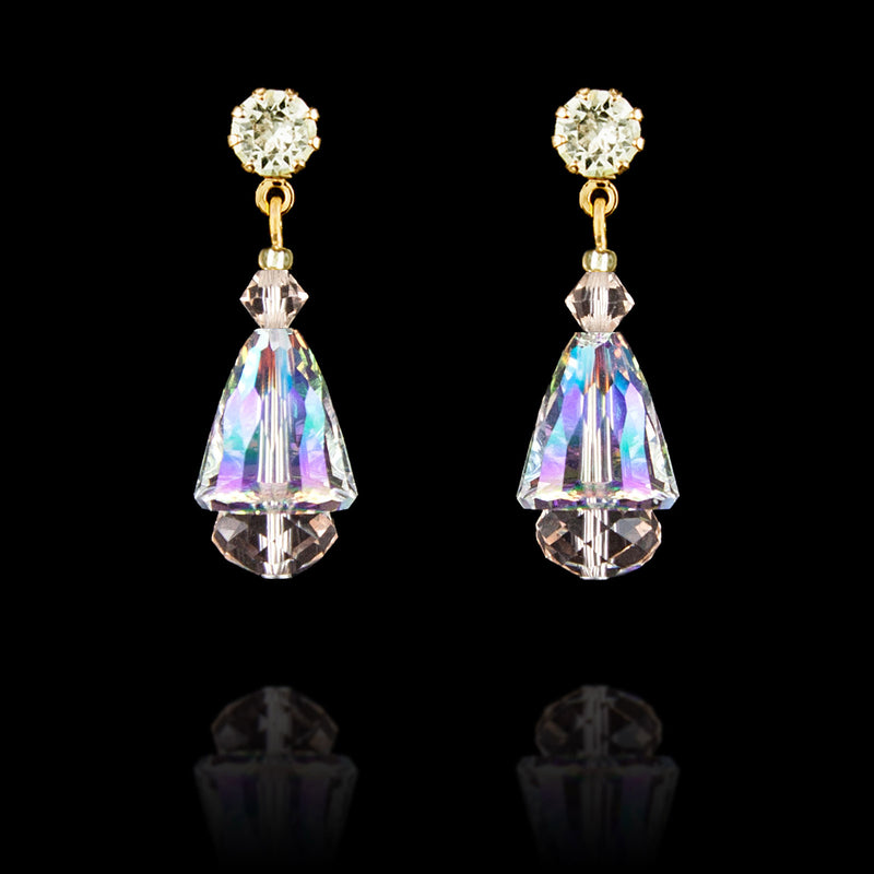 Iridescent & Champagne Drop Earrings