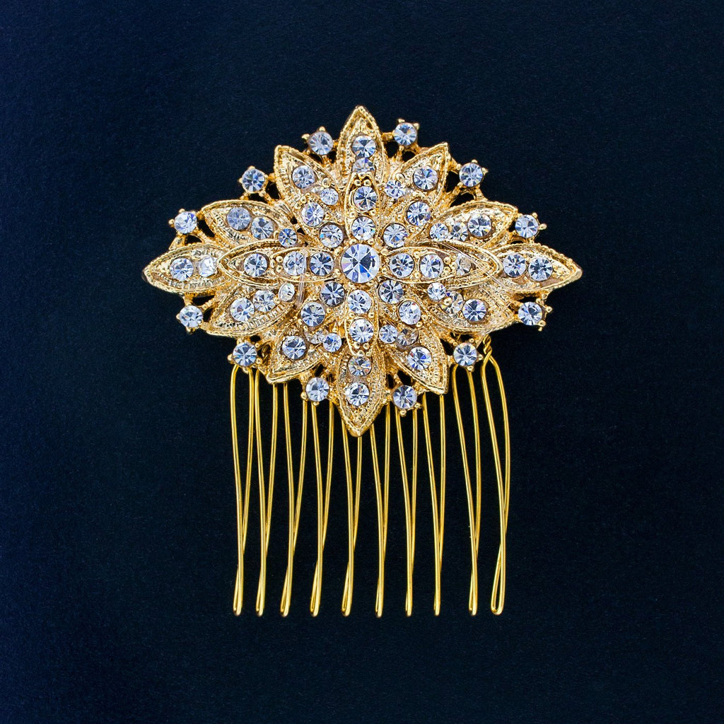 Geometric Vintage Haircomb - gold