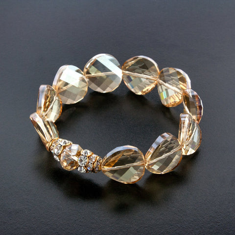 Modern Crystal Bracelet with Pave Accent