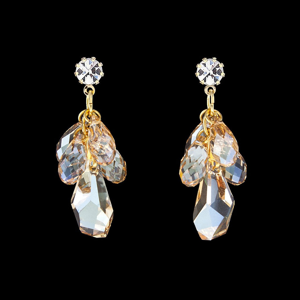 Multi-Drop Crystal Cluster Earrings