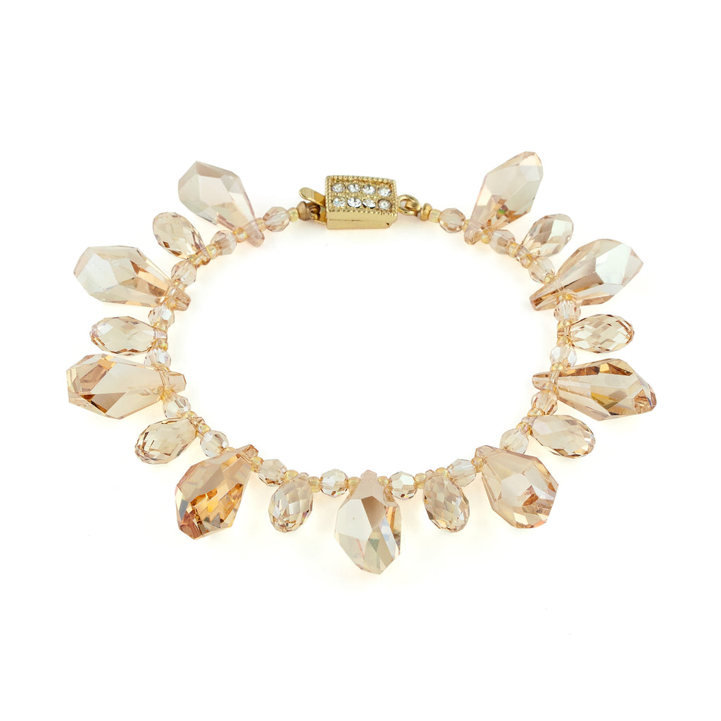 Bracelet with Crystal Drops - Amber
