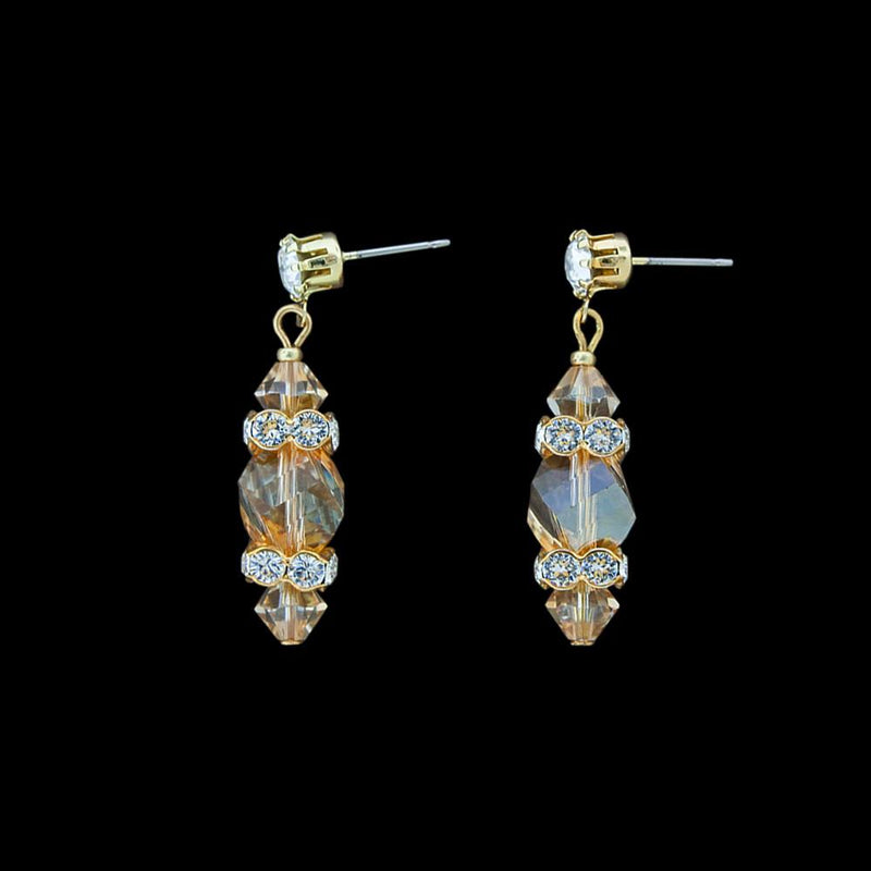 Geometric Crystal Earrings with Squardelles