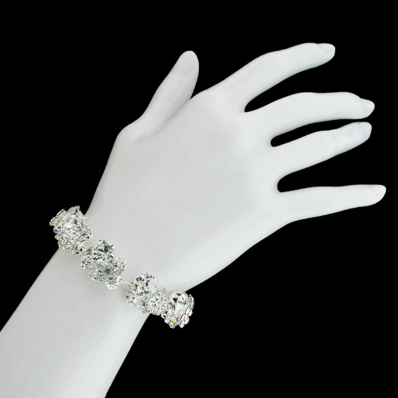 Crystal Cluster Bracelet on hand