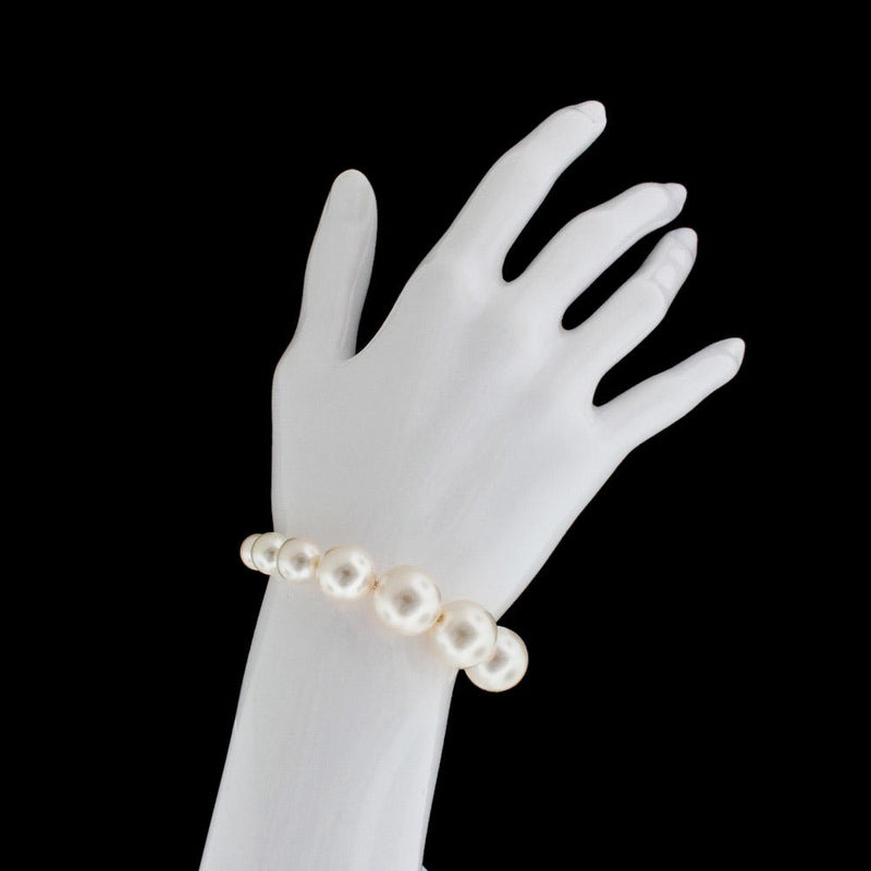 Graduated Pearl Bracelet on wrist