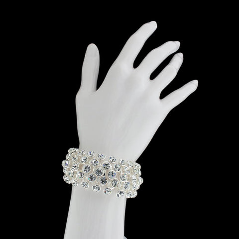 Multi-Row Crystal Stretch Bracelet