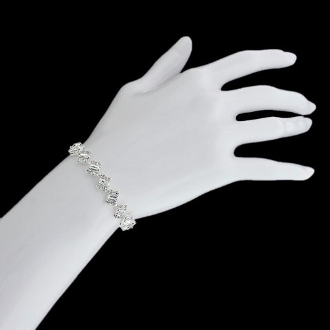 Modern Bracelet with Crystal Baguettes