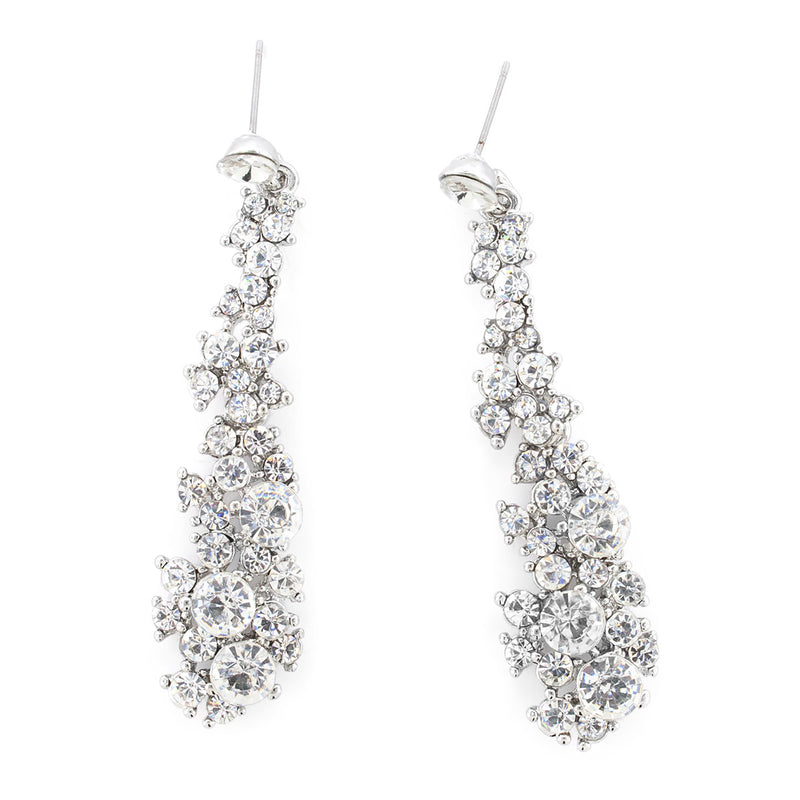 Abstract Rhinestone Statement Earrings