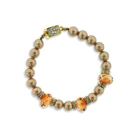 light brown pearl bracelet - HOL513B