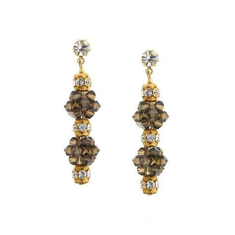 Champagne 2 cluster earrings