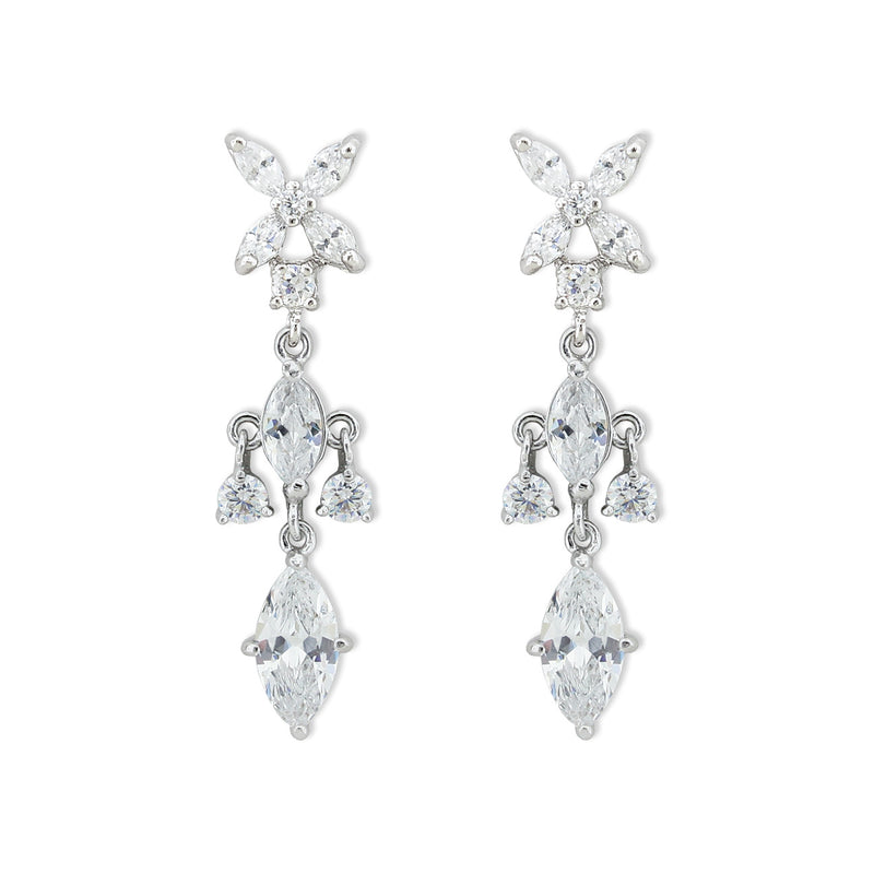 cz earrings with marquise top