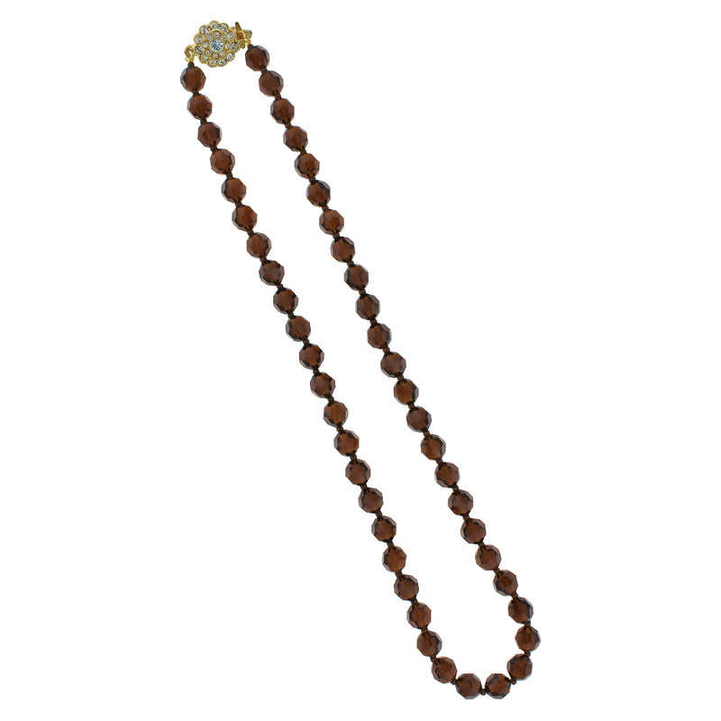 mocca crystal necklace - AN1N-8M