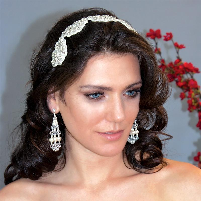 Scalloped Crystal Bridal Headband