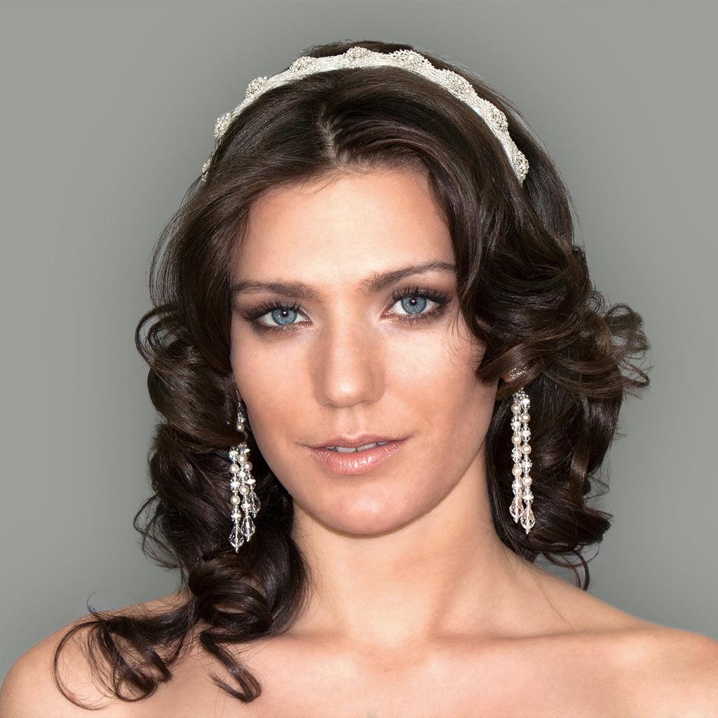 Lace & Crystal Headband