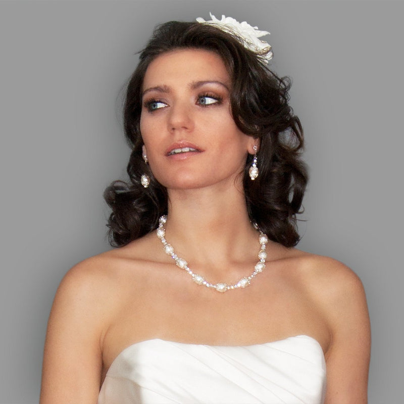 Pearl, Crystal & Filigree Bridal Necklace