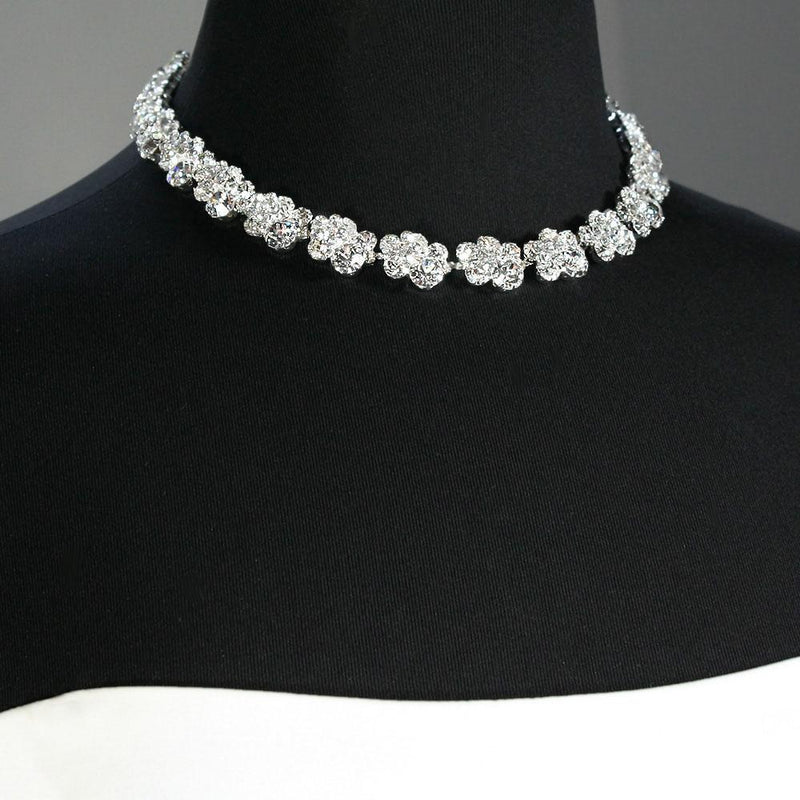 Crystal Cluster Necklace on mannequin