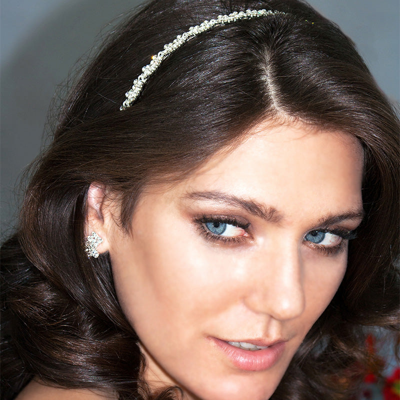 Bridal Headband on model