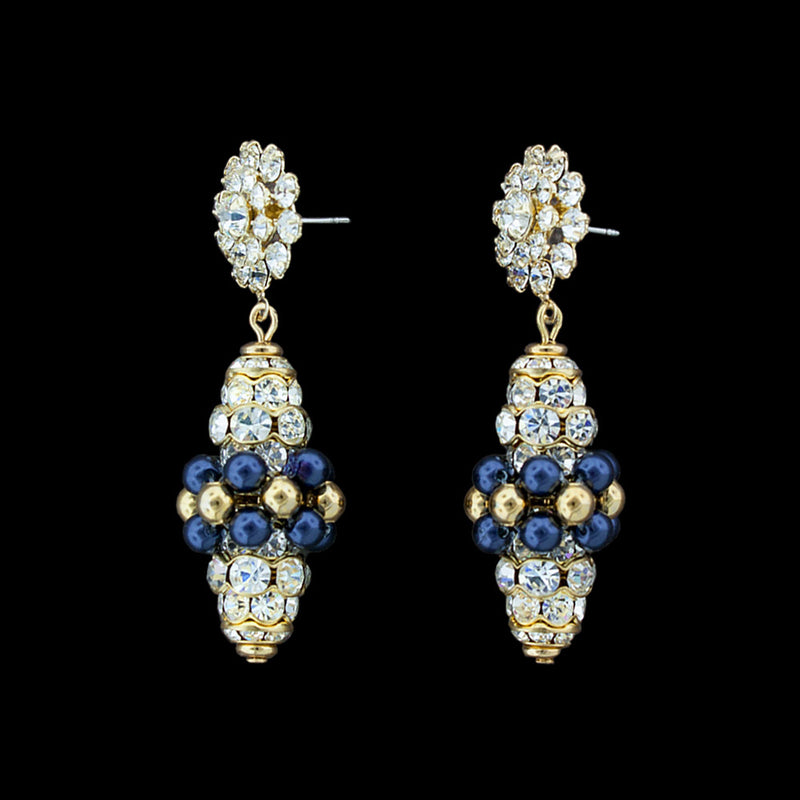 Swarovski midnight blue pearl earrings - RS145E