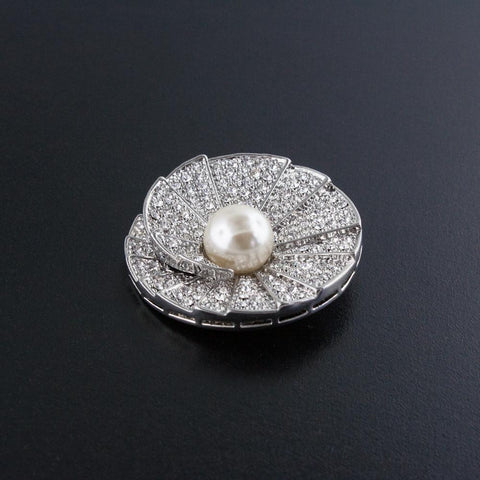 Spiral Pin with Pearl Center