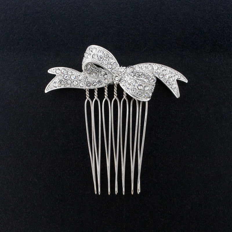 Crystal Bow Haircomb