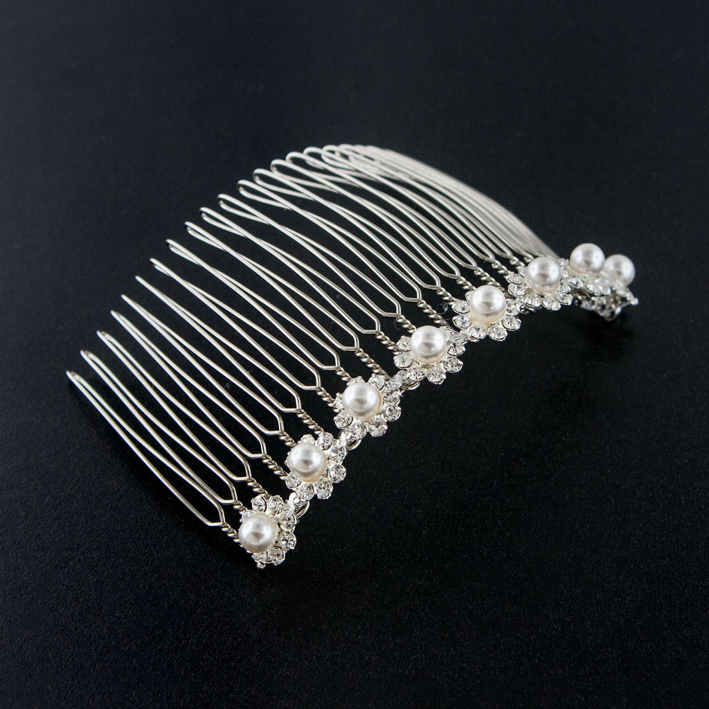 Pearl & Rhinestone Bridal Haircomb