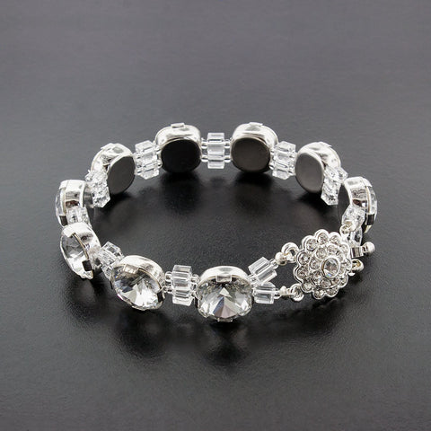Bracelet with Box Cut Crystals