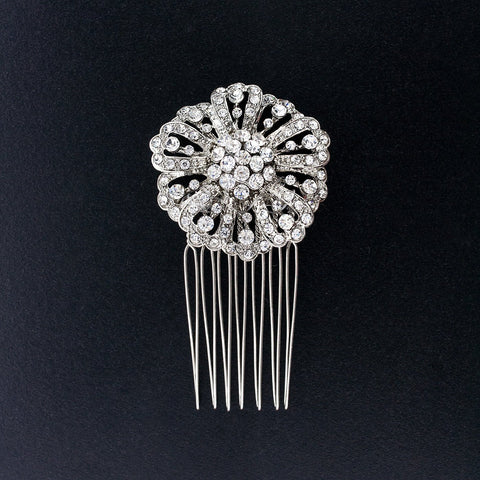 Round Crystal Haircomb