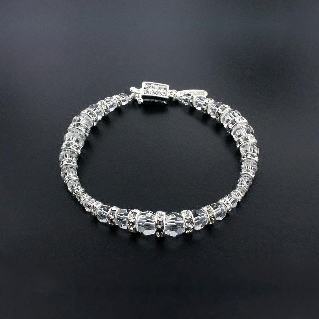 Graduated Crystal Bracelet with Rondelles