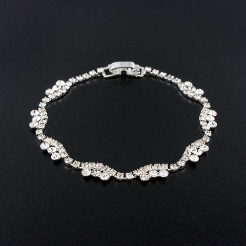Simple Rhinestone Crystal Bracelet
