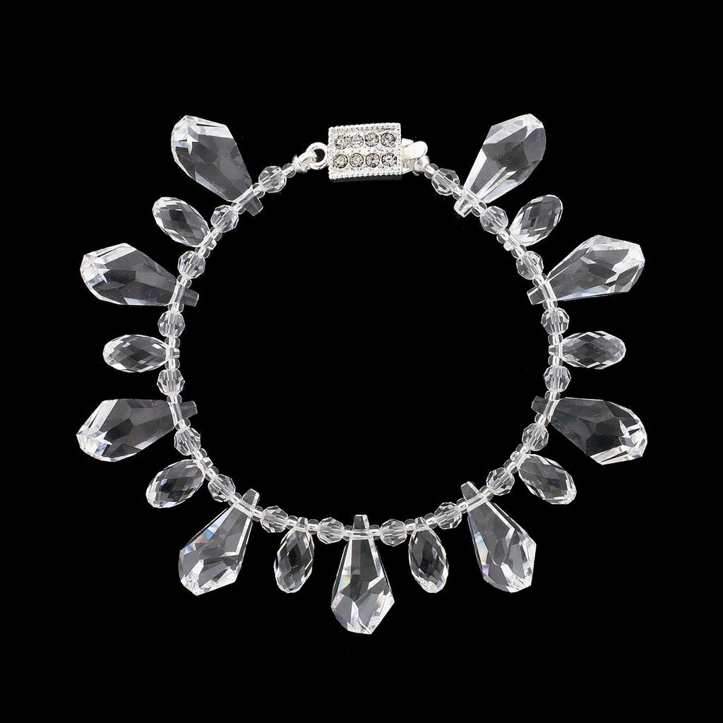 Bracelet with crystal drops - clear