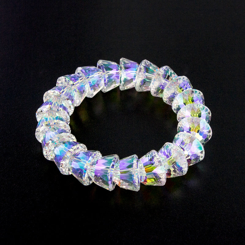 Luxury Iridescent Crystal Stretch Bracelet