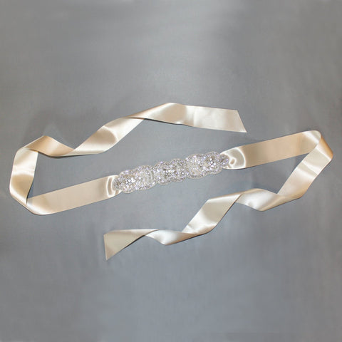 Bridal Sash with Art Deco Pattern