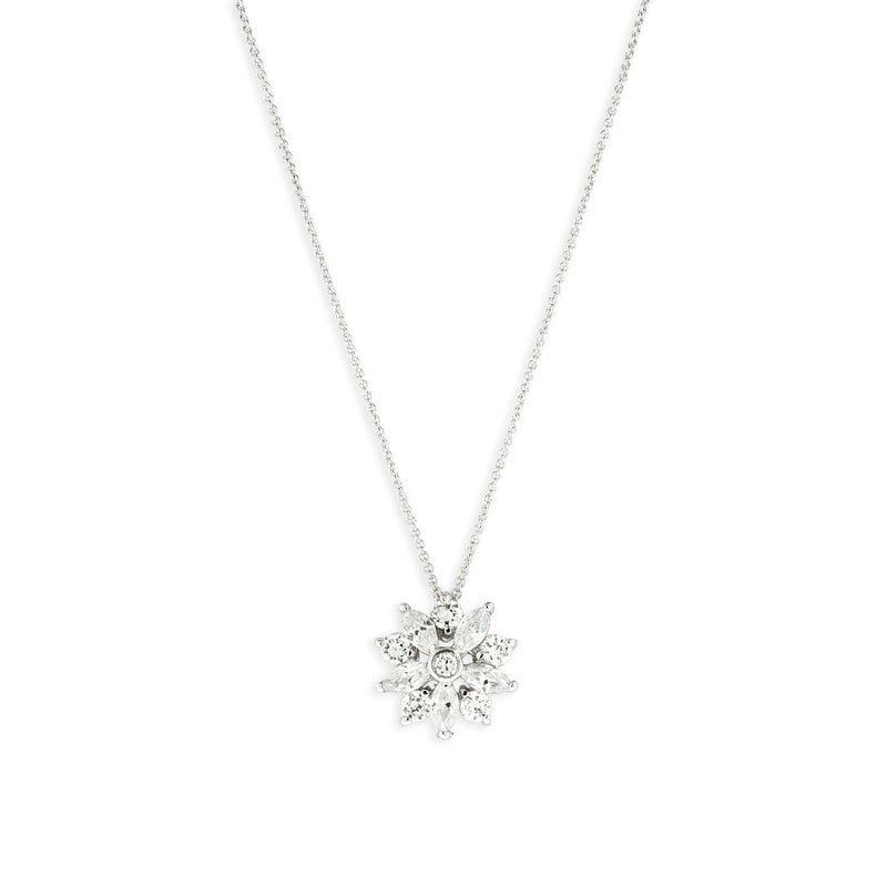 Small CZ Flower Necklace